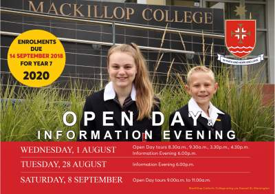 Information Evening and Open Morning Tours